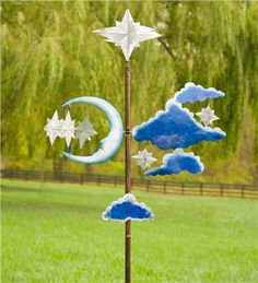 Our Enchanting Stars, Moon And Clouds Metal Wind Spinner Is Beautifully  Handcrafted. This Elegant Garden Spinner Is The Most Whimsical Of Our Wind  Spinners.