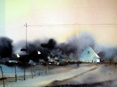 Björn Bernström Art Of Watercolor: New Discoverings for Me Winter Watercolor, Art Painting, Landscape Paintings, Fine Art, Watercolor, Painting, Art, Watercolor Landscape, Landscape Art