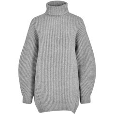 827a8009f703 Acne Studios Isla grey ribbed wool jumper found on Polyvore featuring tops