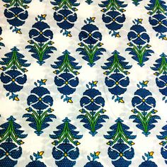 Tropical Print Soft Cotton Fabric Block Printed by DesiFabrics