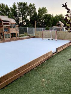 Backyard Hockey Rink, Backyard Ice Rink, Outdoor Rink, Outdoor Skating Rink, Backyard Play, Outdoor Play, Hockey Shot, Ice Hockey, Synthetic Ice Rink