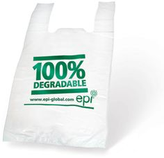 100% Biodegradable EPI Plastic Vest Bag