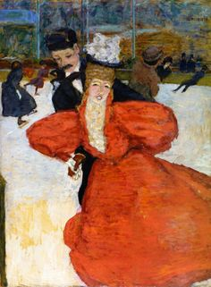 """""""The Skaters"""" by Pierre Bonnard (1898)"""