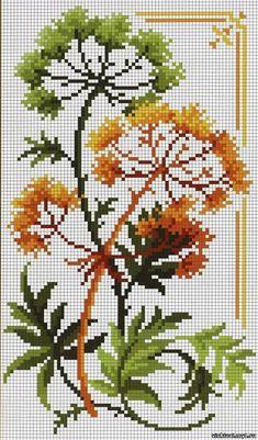 Kanaviçe sonbahar mini tablo