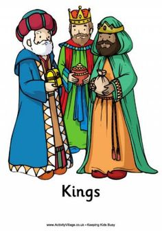 Nativity Poster - the Three Kings or Wise Men