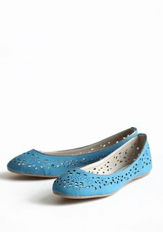 Lily Cutout Flats | Modern Vintage Shoes
