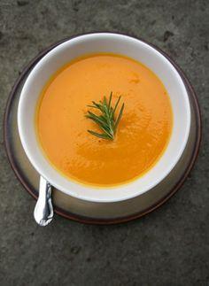 Velvety Chilled Carrot Rosemary Soup