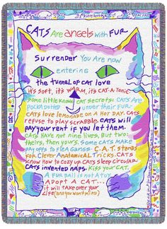 Give this blanket to yourself or anyone who loves cats- they will absolutely adore it.  You can buy this or others at planetsark.com.