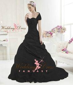 Wedding Dress Fantasy - Black Wedding Gown Available in Every Color 2, $795.00 (http://www.weddingdressfantasy.com/black-wedding-gown-available-in-every-color-2/)