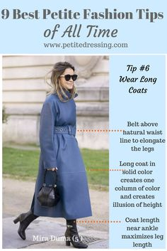 These 9 best petite fashion tricks work magically, because they are based on rule of thirds to elongate petite women and make you look taller and slimmer. Petite Fashion Tips, Petite Outfits, Fashion Tips For Women, Curvy Fashion, Look Fashion, Autumn Fashion, Fashion Outfits, Womens Fashion, Ladies Fashion