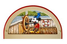 Steamboat Mickey Mouse Themed Large Wall Mirror FREE by RustiLee, $399.99