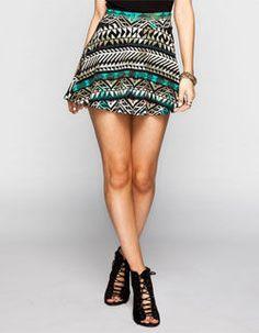 FULL TILT Ethnic Arrow Skater Skirt