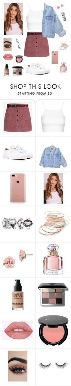 """"""""""" by rochiilucena8 on Polyvore featuring moda, Topshop, Converse, Belkin, Red Camel, 1928, Guerlain, MAKE UP FOR EVER, Bobbi Brown Cosmetics y tarte"""