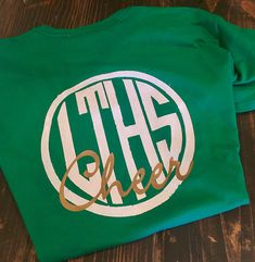 Monogrammed cheer shirt; my first cheer mom tee for my bab… | Flickr