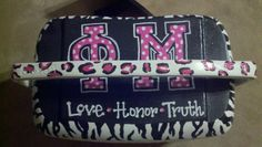 One incredible craft project with two powerful letters! Phi Mu <3