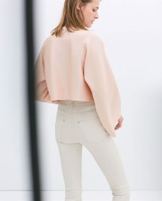 CROP TOP WITH WIDE SLEEVES from Zara
