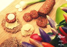 Sausage with mustard and bread. Slovak style| raw vegan | Raw Mother&Daughter
