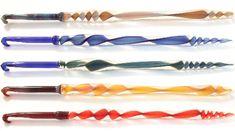 Glass hooks, that could double as knitting needles Crochet Hook Set, Crochet Chart, Cute Crochet, Crochet Patterns, Crochet Ideas, Crochet Tools, Learn To Crochet, Crochet Projects, Crochet Things
