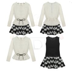 T P 0 0 1 | Price (RM): 60 | Color: Ivory + Black | Size: S / M / L / XL | Postage: Inclusive | Click the picture for more details
