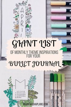 Bullet Journal Monthly Theme Ideas