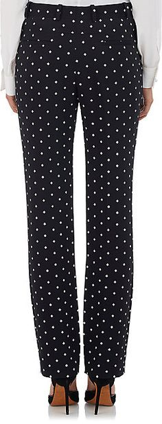 Givenchy Micro Cross-Print Cady Trousers - Trousers - 504028336