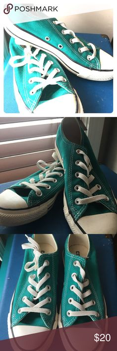 Women's converse Lightly worn, teal Converse Shoes Sneakers