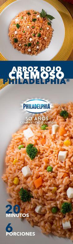 Descubrimos que este Arroz cremoso Philadelphia te recordará ese peculiar sazón de mamá. #recetas #receta #quesophiladelphia #philadelphia #quesocrema #queso #comida #cocinar #cocinamexicana #recetasfáciles #recetasPhiladelphia #recetasdecocina #comer #arroz #comida #familia #recetaarroz #recetacomida #mama