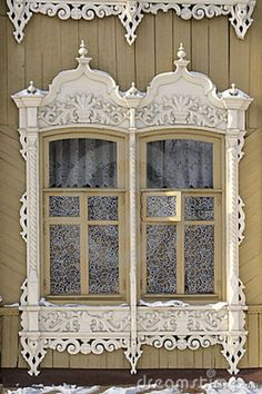 Window Detail- with lace curtains