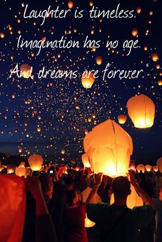 Forever dreaming.
