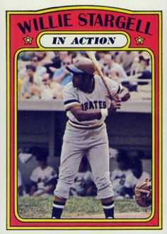 1972 topps in action baseball cards   1972 Topps Willie Stargell (In Action) #448 (Hall of Fame)