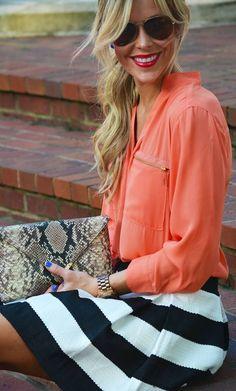 Fashion Orange Blouse