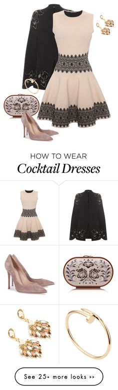 """Cocktail Dresses"" by eva-kouliaridou on Polyvore featuring Alexander McQueen, Katrin Langer, Gianvito Rossi and Cartier"