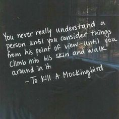 Book quote - To kill a mockingbird by Harper Lee