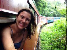 Eu no trem para Morreres. Paraná.