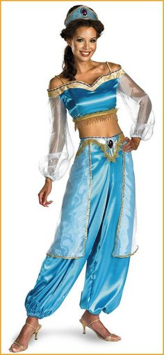Adults Princess Jasmine Disney Costumes HalloweenCostumes4u.com