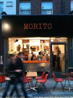 Morito, Exmouth Market, London Morito is a tapas bar and little brother to next-door Moro, Sam and Sam Clark's excellent Moorish - and more-ish - restaurant in Exmouth Market restaurant. Tiny explosions of flavour, most of them under £8, with very reasonably priced wine. Probably not the place to choose if you're ravenous: for that, nip next door or go to the corner fish and chippie. Lunchtime booking only, dinner first come first served 020 7278 7007, www.moro.co.uk