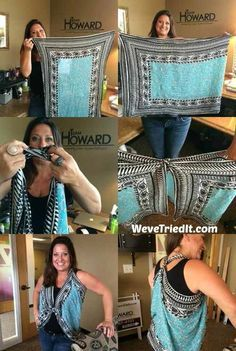 How to turn a scarf into a vest to jazz up an outfit or create a different look