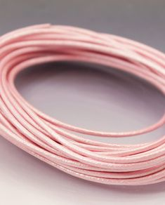 Candy pink metallic leather cord 3 mm for necklaces and bracelets. powder pink core leather rope for jewelry making supplies Metallic Leather, Pink Leather, Leather Cord, Lavender Blue, Stitching Leather, Powder Pink, Pink Candy, How To Make Beads, Jewelry Making Supplies
