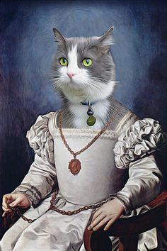 Custom Renaissance Pet Portrait - Dog Cat Bird etc. - Digital personalized portrait painting using your pet Photo  Have your beloved pet dog, cat,