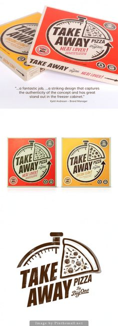 Take Away Pizza Packaging | Designer: Big One #Branding #Packaging #Design