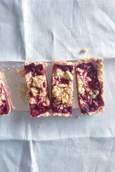 Gluten and dairy free raspberry and rhubarb crumb tart | Cannelle et Vanille