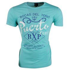 Fisher and Bennet - Trendy heren T-shirt met Korte Mouw - Puerto - Blauw