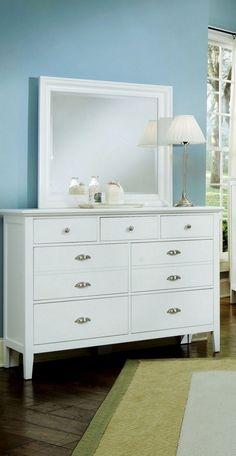 Twilight White Large Dresser & Mirror $799.99 Sku:129456 Dimensions:56Wx18Dx80H The Twilight collection has a simplistic look that makes it easily placed into a traditional or a contemporary setting. This collection has a shaker styling throughout, with completing contemporary features making the Twilight the perfect blend of a classic shaker style and modern living. Please visit our website for warranty and benefits.