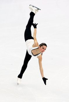 Valentina Marchei of Italy practices during a figure skating training session ahead of the Sochi 2014 Winter Olympics at the Iceberg Skating...