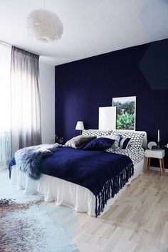 37 Navy Bedroom Decorating Ideas You Must Try Home N Decor, Home, Home Bedroom, Girl Bedroom Designs, Bedroom Inspirations, Apartment Decor, Bedroom Decor, Bedroom, New Room