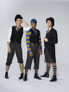 High Res PETER PAN LIVE! -- Season: 2014 -- Pictured: (l-r) Jason Gotay, Dyllon Burnside, and Chris McCarrell as Lost Boys -- (Photo by: Patrick Randak/NBC)