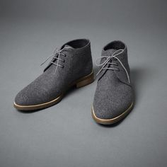 Oxford Wool Chukkas by Thomas Dean
