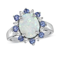 Lab Created Opal White Shire And Tanzanite Ring In Sterling Silver View All