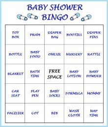 Printable Boy Baby Shower Bingo Games