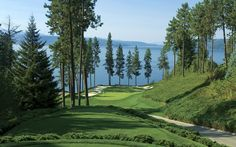 Coeur d'Alene, Idaho - This could make me want to become a golfer.